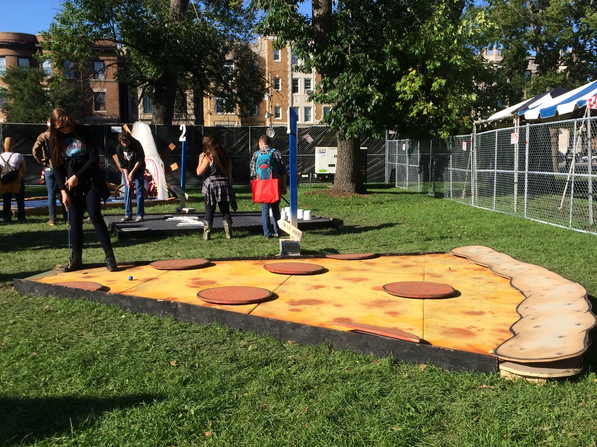 Riot Fest isn't shy about it's love of 'za, and put it on a Riot Putt-Putt course for all to see.