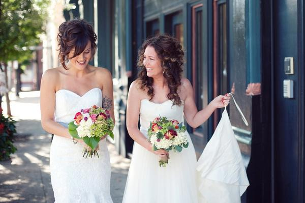 """A sweet image from Julie and Jennie's #cincinnatiwedding"" - Nikita Gross"