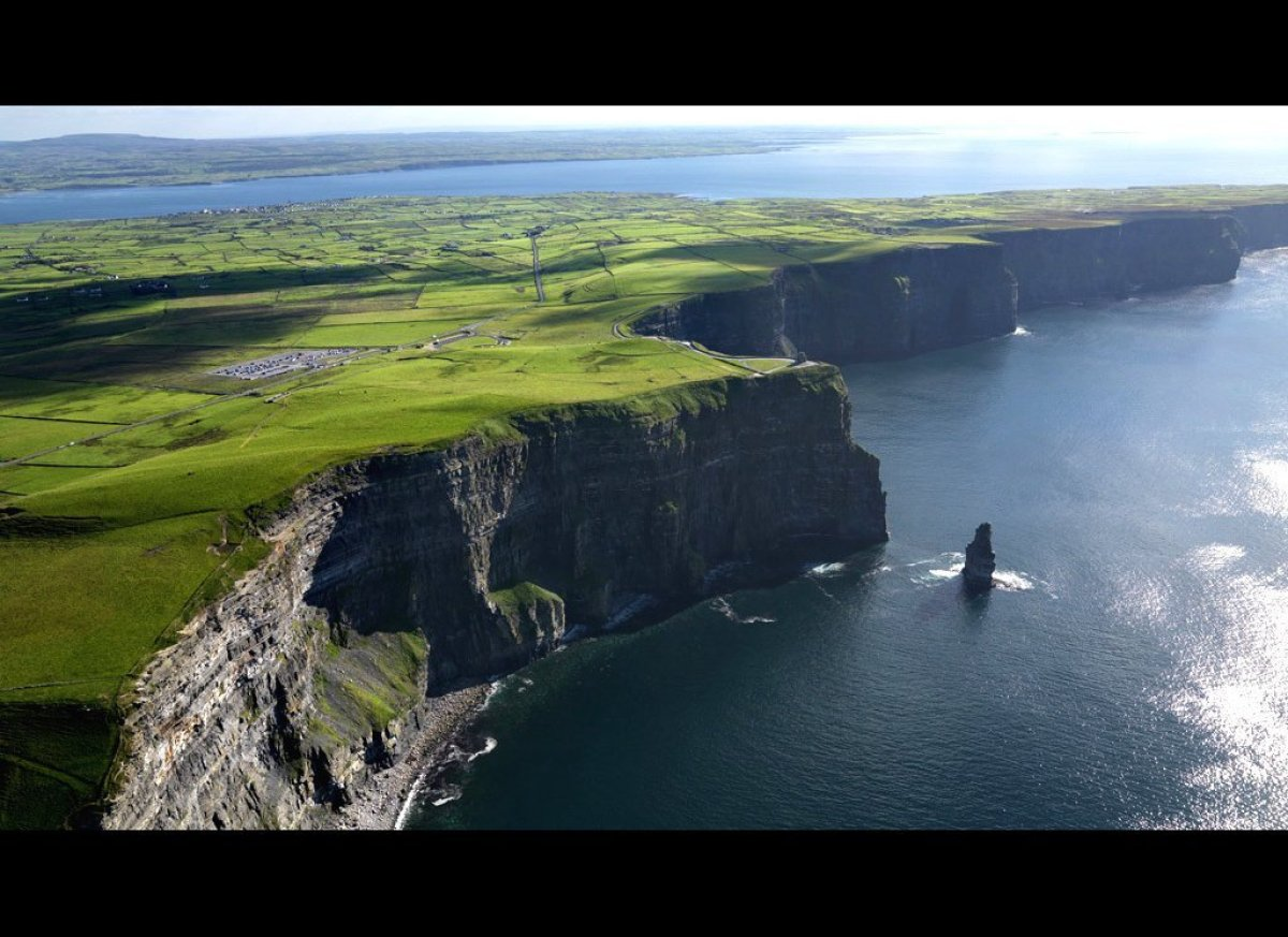 <strong>Cliffs of Moher</strong> (County Clare, Ireland)  Stretching for five miles along Ireland's western coast, the Cliffs