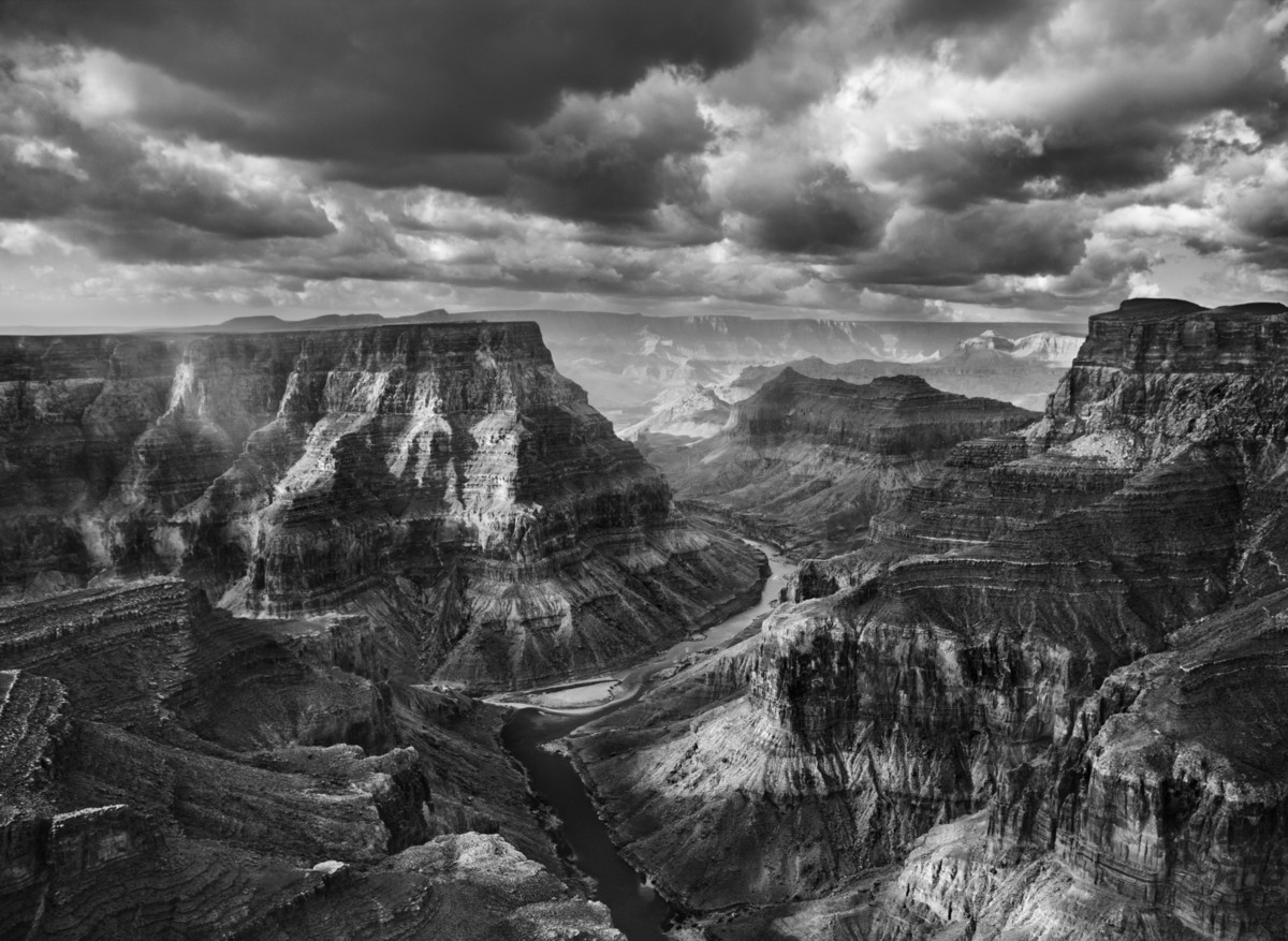 View of the junction of the Colorado and the Little Colorado Rivers from the Navajo territory. The Grand Canyon National Park