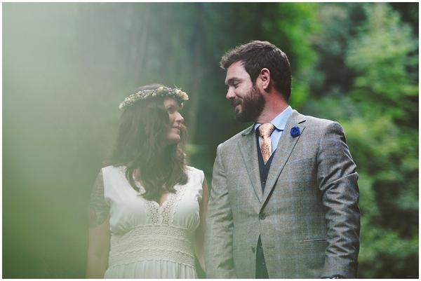 """Tina and Joe chose beautiful Ashevile for their intimate wedding in the woods."" -- Nikita Gross"