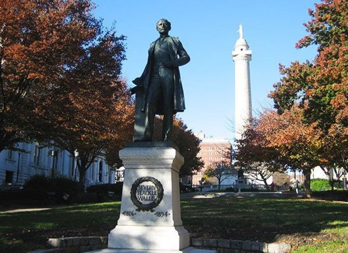"""<em>Photo Credit: Mount Vernon Square, Baltimore by eekim CC BY 2.0</em>  Make holiday dinner plans at <a href=""""http://www."""