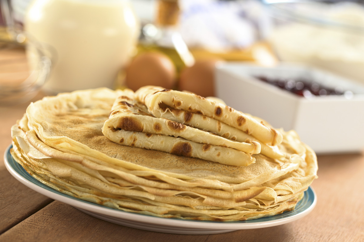 Crepes are possibly the thinnest type of pancake you can eat. In France, they're often eaten as a snack instead of breakfast.