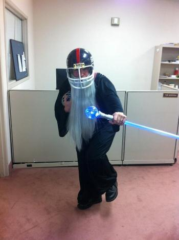There is nothing funny about what's going on in the real NFL right now, but this fantasy football costume is a great way to u
