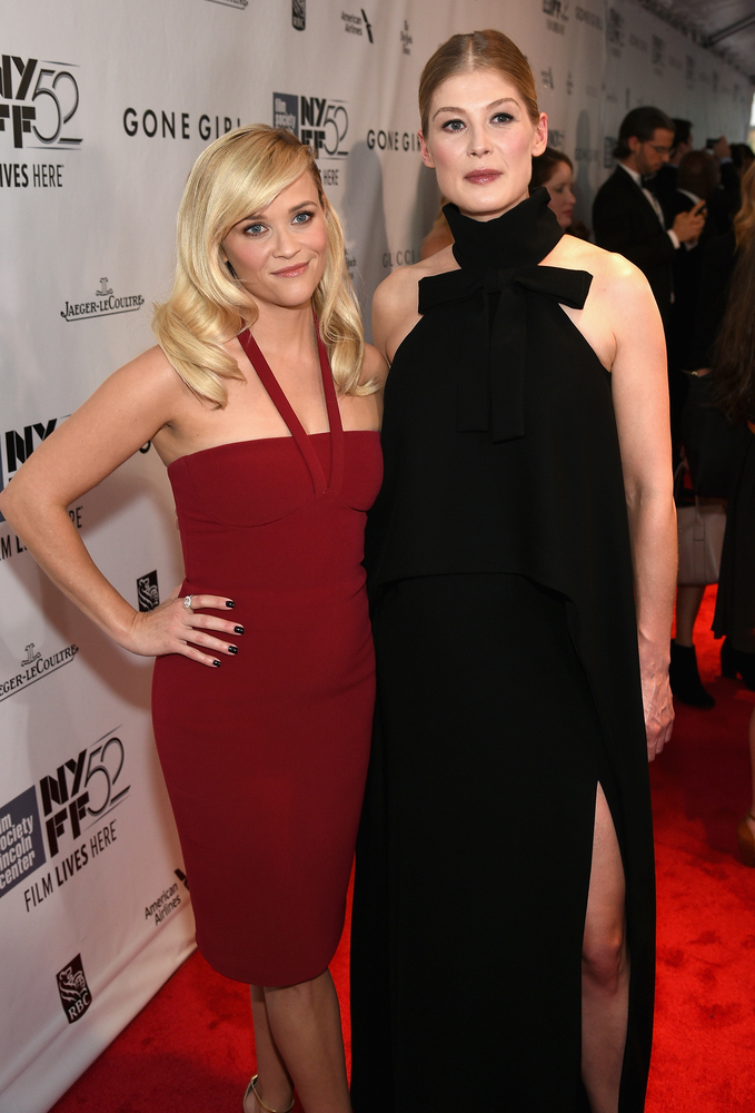 NEW YORK, NY - SEPTEMBER 26:  Actresses Reese Witherspoon (L) and Rosamund Pike attend the Opening Night Gala Presentation an