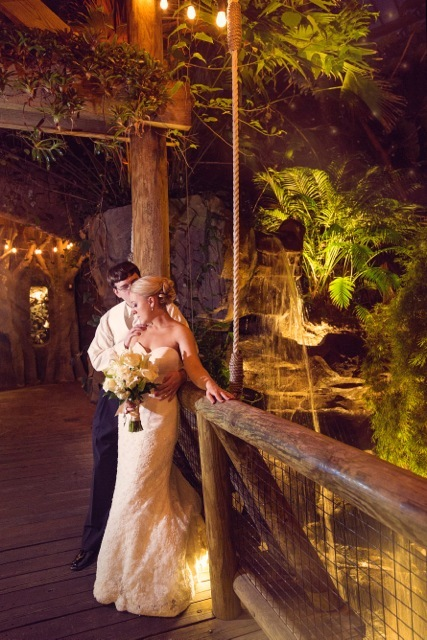 """""""Mark and Amanda held their reception at Mesker Park Zoo in Evansville, Indiana!"""" - JAA Studios"""