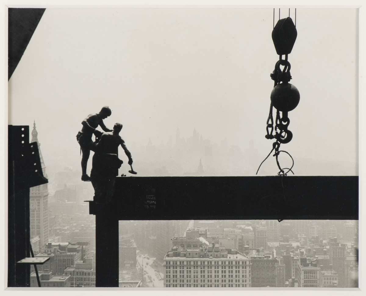Lewis Hine, Laying Beams, Empire State Building Construction, 1931, Gelatin silver print ( vintage), 8 x 10 in., Collection o