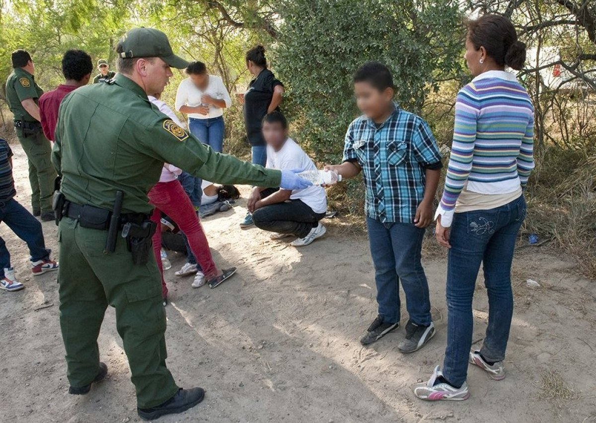 South Texas Border - U.S. Customs and Border Protection provide assistance to unaccompanied children after they have crossed