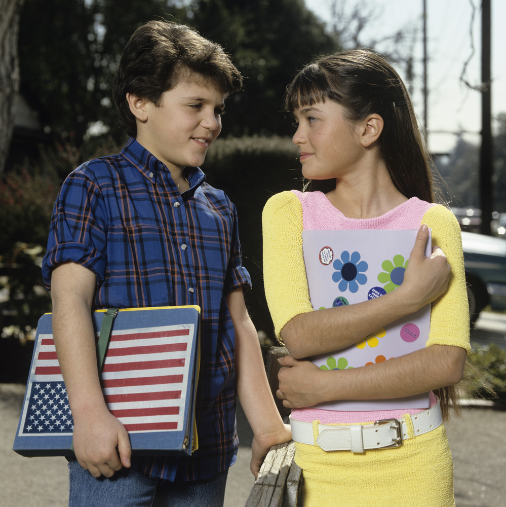 UNITED STATES - DECEMBER 02:  WONDER YEARS - 'Ad Gallery' 2/88 Fred Savage, Danica McKellar  (Photo by ABC Photo Archives/ABC