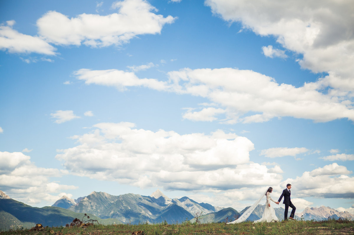 """""""We recently got married in the Canadian Rockies in British Columbia!"""" - Julie and Tristan"""