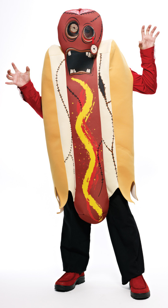 """If you're looking for a <a href=""""http://www.savers.com/men-halloween-costumes/zombie-hot-dog-costume.aspx"""" target=""""_blank"""">zo"""
