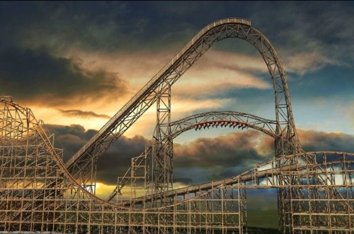 A new addition to the Six Flags Great America park is the record breaking wooden roller coaster, Goliath. Traveling up to 72