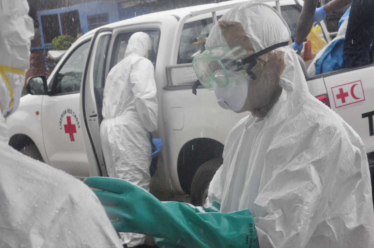"Not as far as we know. <a href=""http://www.who.int/features/2014/ebola-myths/en/"" target=""_blank"">Ebola isn't contagious unti"