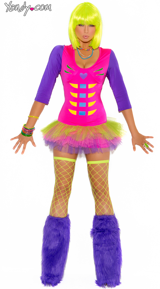 """We know the name of the costume is """"Raven Bones Skeleton."""" We don't care. We're calling it """"Sexy Raver Skeleton."""""""