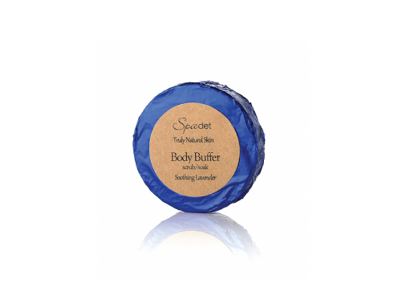 """We love this head-to-toe skin-friendly exfoliant.   <br> $3.50, <a href=""""http://spadet.com/product/body-buffer/"""" target=""""_bla"""
