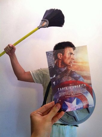 """""""Even superheroes can't escape from the wrath of house chores."""""""