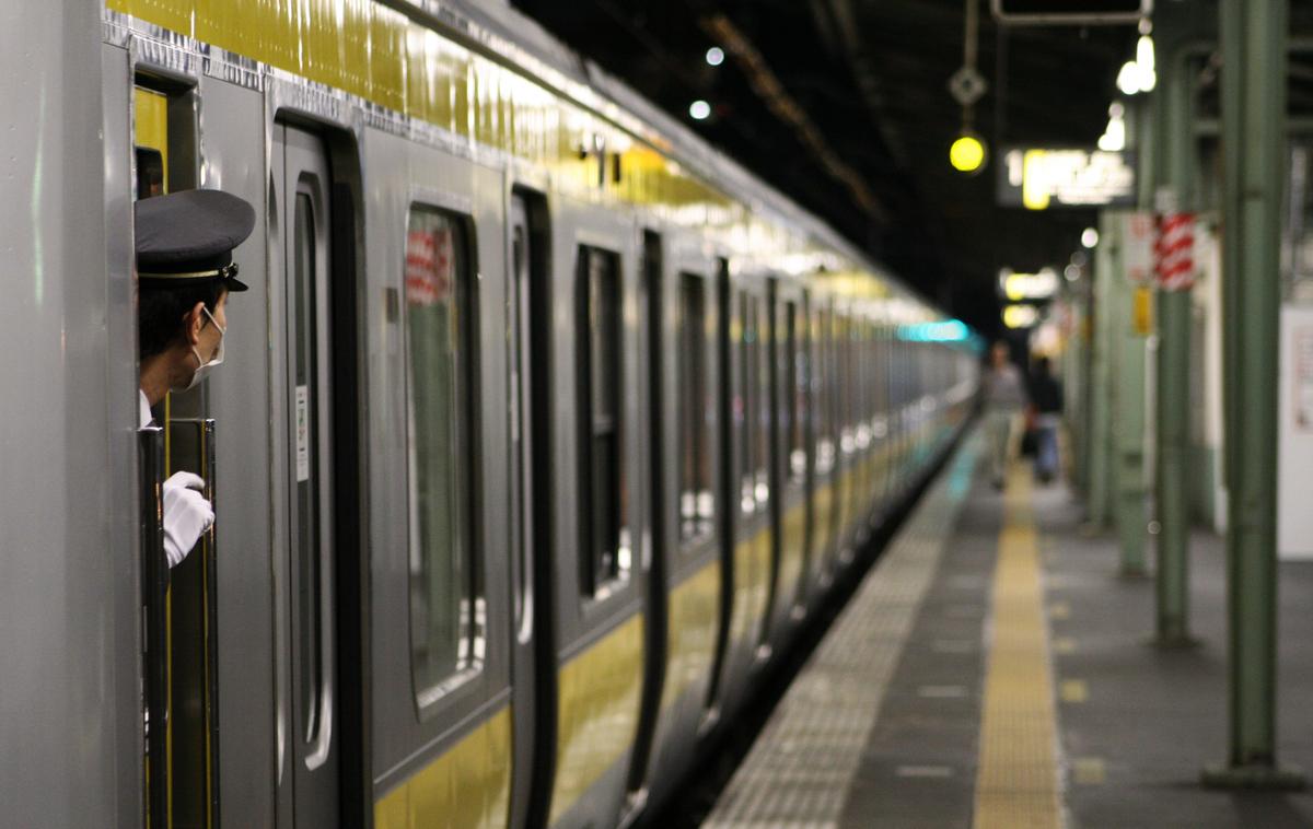 Chris Jongkind Canadian  Last TrainThe last few Sobu Line trains head out around midnight. Tokyo, Japan