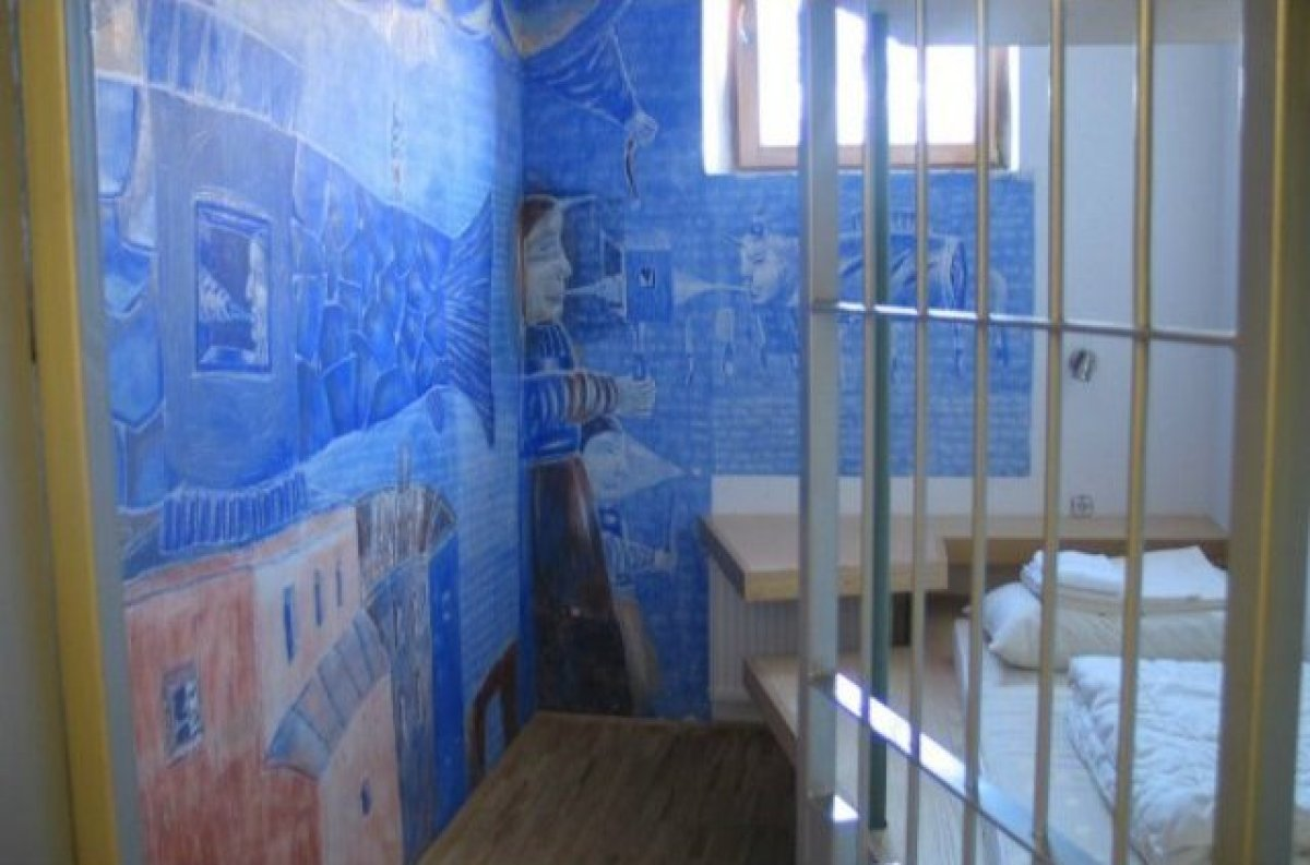 Hostel Celica features the work of more than 80 artists from around the world, their art gives each area of this 19th century