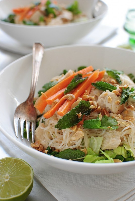 "<strong>Get the <a href=""http://bevcooks.com/2013/07/thai-peanut-chicken-salad/"" target=""_blank"">Thai Peanut Chicken Salad re"