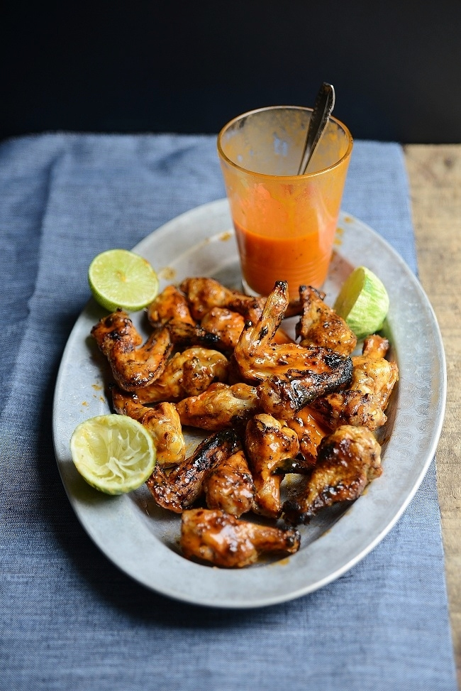 """<strong>Get the <a href=""""http://www.versesfrommykitchen.com/2012/08/sticky-lime-grilled-chicken-wings.html"""" target=""""_blank"""">L"""