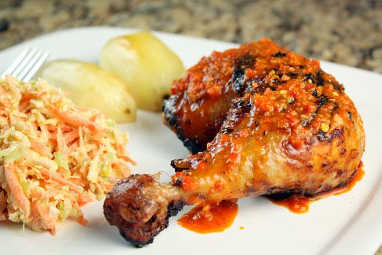 "<strong>Get the <a href=""http://www.macheesmo.com/2011/04/peri-peri-chicken/"">Peri Peri Chicken recipe </a>from Macheesmo</st"