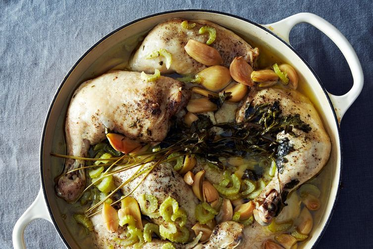 """<strong>Get the <a href=""""http://food52.com/recipes/27514-chicken-with-40-cloves-of-garlic"""" target=""""_blank"""">Chicken with 40 Cl"""