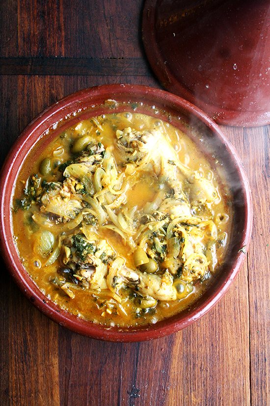 """<strong>Get the <a href=""""http://www.alexandracooks.com/2014/03/12/chicken-with-preserved-lemons-green-olives/"""" target=""""_blank"""