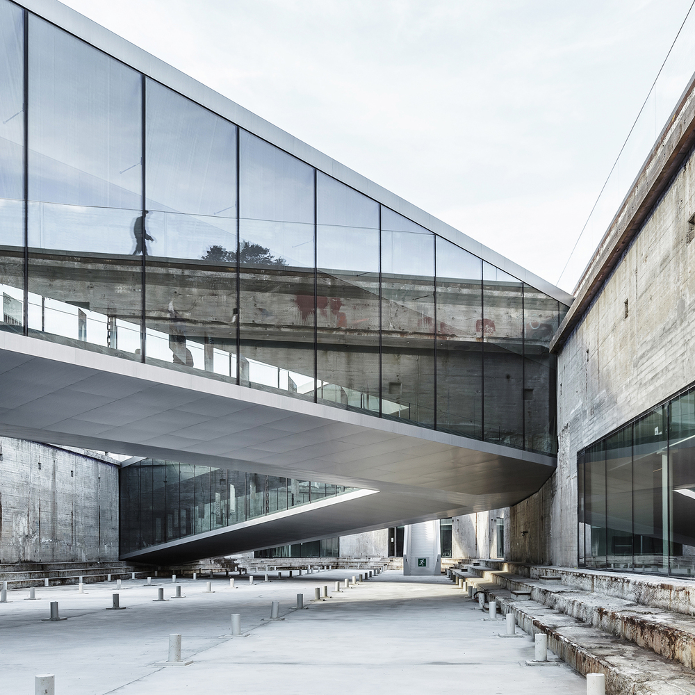 Danish Maritime Museum by BIG. This museum is a subterranean structure built around a dry dock adjacent to the Kronborg Castl