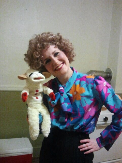 Who wouldn't want to be Shari Lewis?? Just find a colourful blouse and a black skirt for your outfits, then curl your hair an