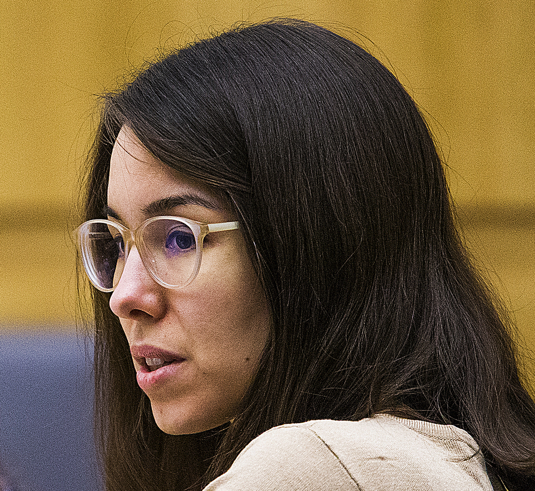 Jodi Arias in court on October 21, 2014, the first day of her penalty retrial.