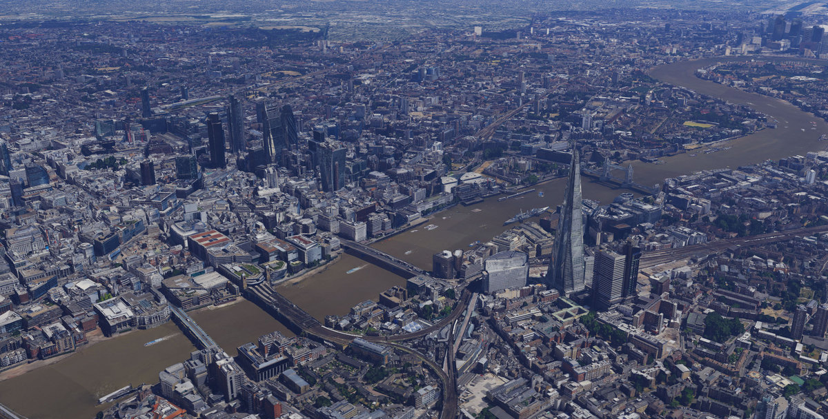 Undated handout photo issued by Google of an aerial view of London as Google Maps launches 3D mapping of the capital city, us