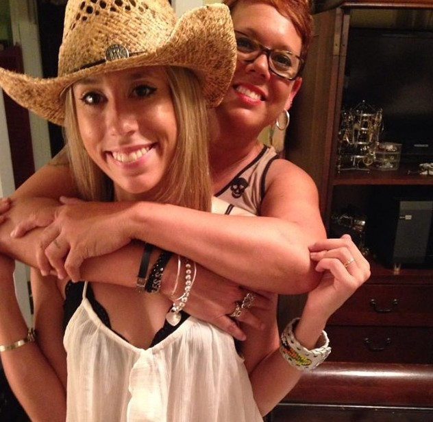 Christina Marie Morris (left) and her mom, Jonni Lee McElroy.