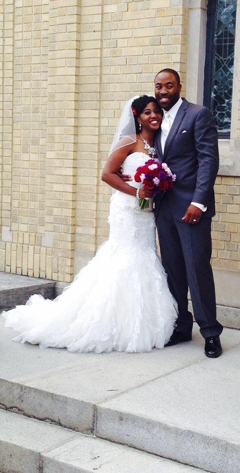 """""""My sorority sister Ki'Yonna Brown and her husband Vonzell Jones married in Richmond, Virginia this weekend."""" - Christina Rob"""