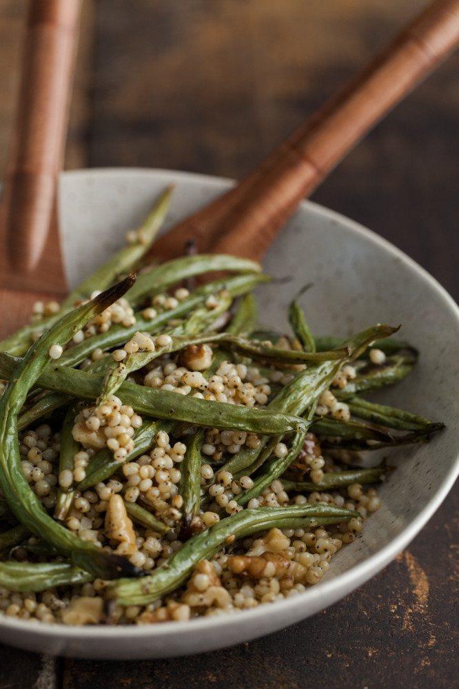 "<strong>Get the <a href=""http://naturallyella.com/2014/06/11/garlic-green-beans-with-sorghum-and-walnuts/"" target=""_blank"">Ga"