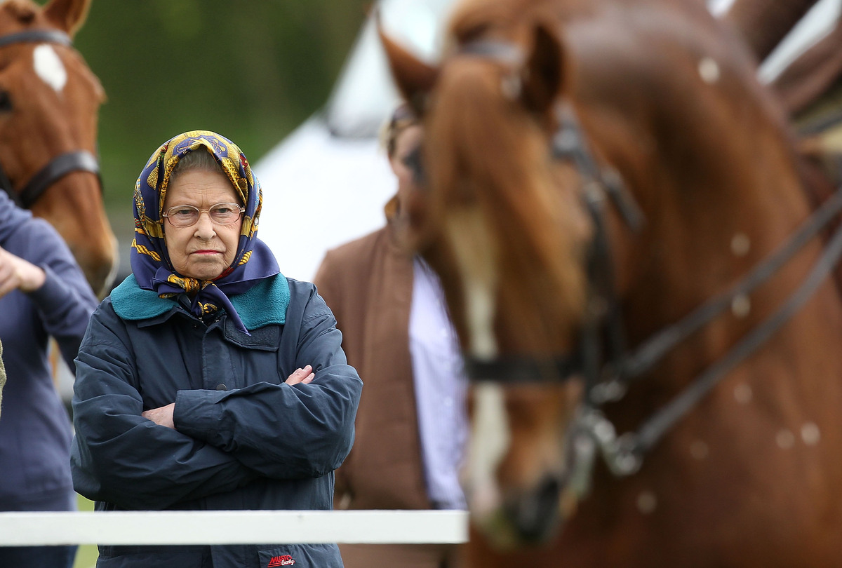 Queen Elizabeth II Attends The First Day Of Royal Windsor Horse Show On May 8