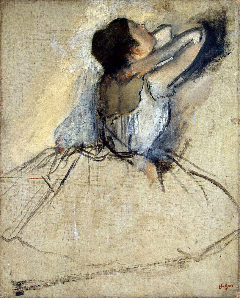 """Degas' """"Dancer,"""" c. 1874. Found in the collection of the State Hermitage, St. Petersburg. (Photo by Fine Art Images/Heritage"""