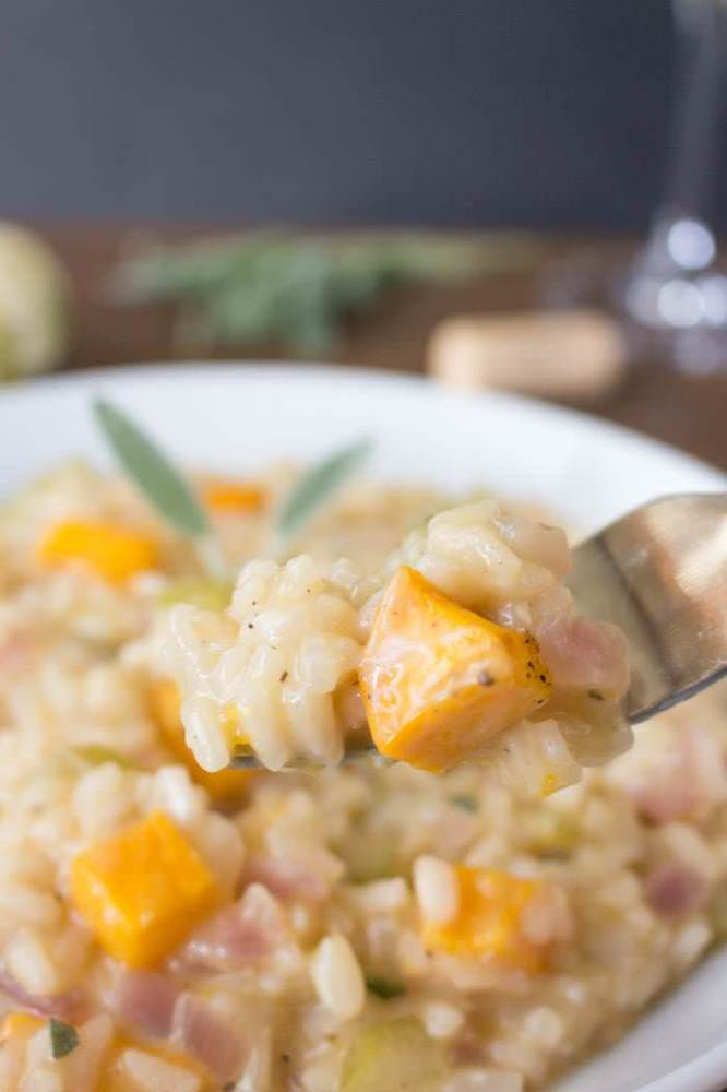 """<strong>Get the <a href=""""http://www.oneingredientchef.com/pumpkin-sage-risotto/"""" target=""""_blank"""">Pumpkin And Sage Risotto rec"""