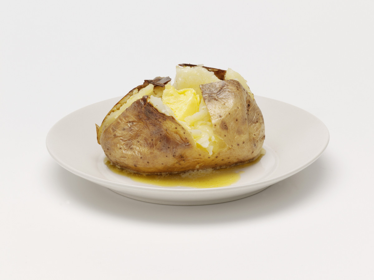 Parents don't buy into the nonsense that potatoes are bad for you. Nothing's easier than a baked potato, and with a pad of bu