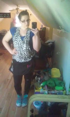 """""""I work at a popular, largely family-oriented Greek restaurant in my town of Lilburn, Georgia.  This is what I usually wear t"""
