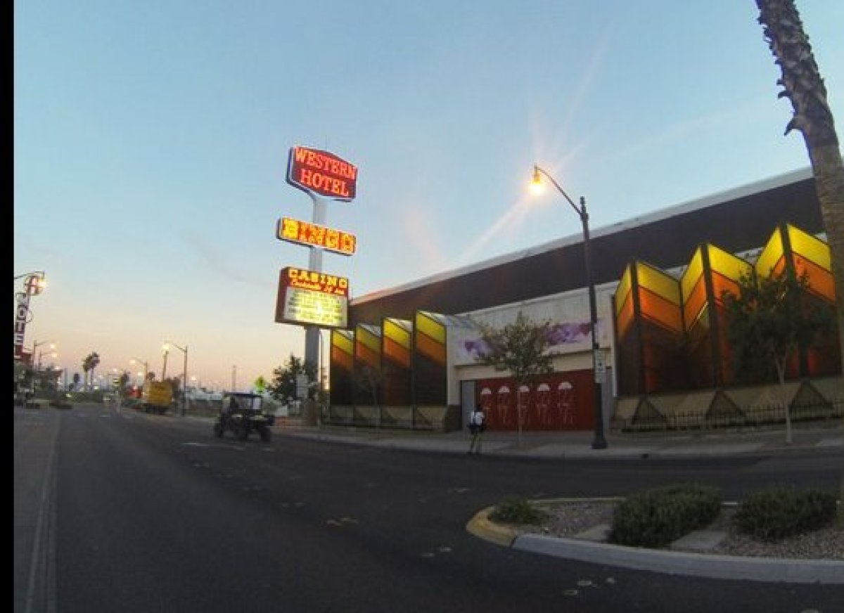 The exterior of the Western Hotel & Casino, venue for Art Tales curated by Patrick Duffy, Life is Beautiful Festival 2014.