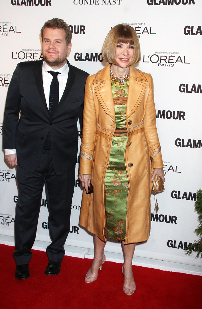 NEW YORK, NY - NOVEMBER 10:  James Corden and Anna Wintour attend the 2014 Glamour Women Of The Year Awards at Carnegie Hall