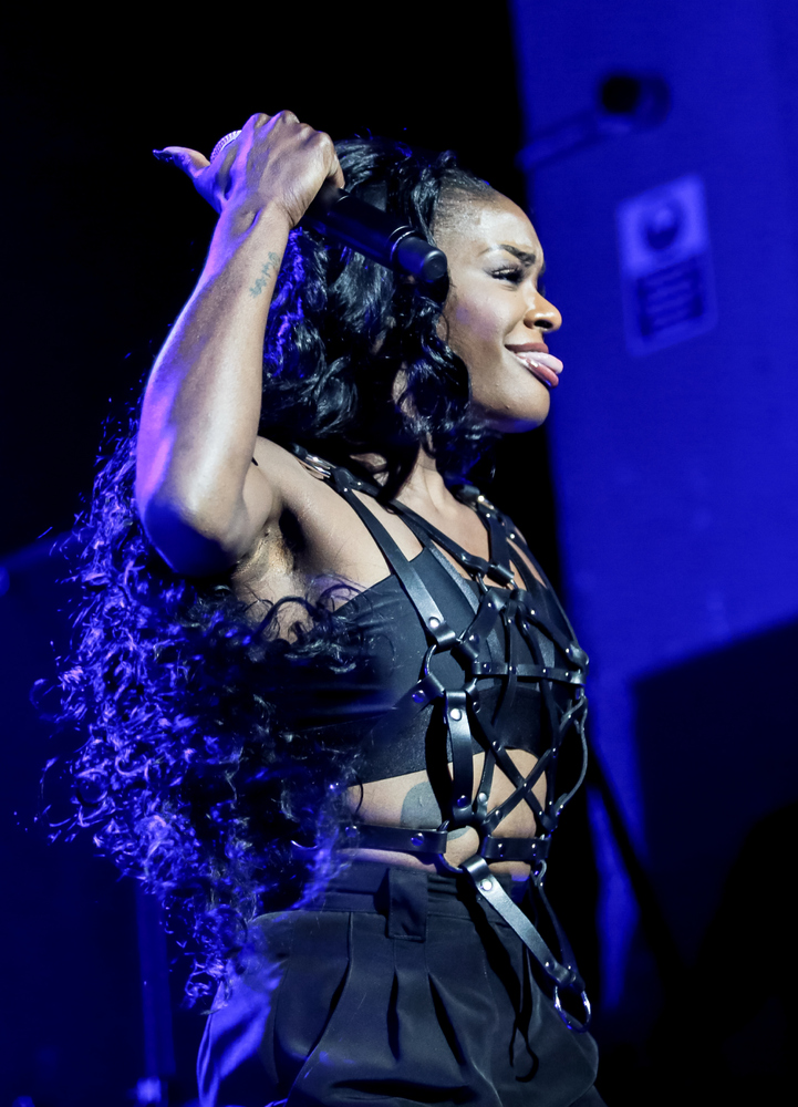 LONDON, UNITED KINGDOM - SEPTEMBER 19: Azealia Banks performs on stage at Brixton Academy on September 19, 2014 in London, Un