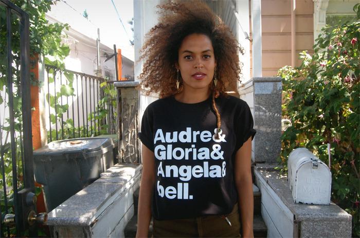 "Get the <a href=""http://thugzmaison.bigcartel.com/product/the-goddesses-shirt"" target=""_blank"">Audre & Gloria & Angela & bell"