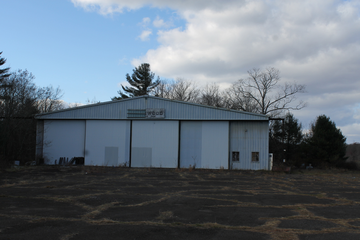 The airport hangar Eric Frein had been hiding out in during the manhunt in the Poconos.