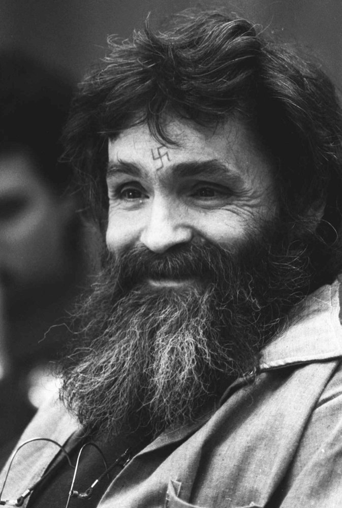 FILE--A gray-haired Charles Manson is shown in this undated file photo. Manson was found guilty of trafficking drugs in priso
