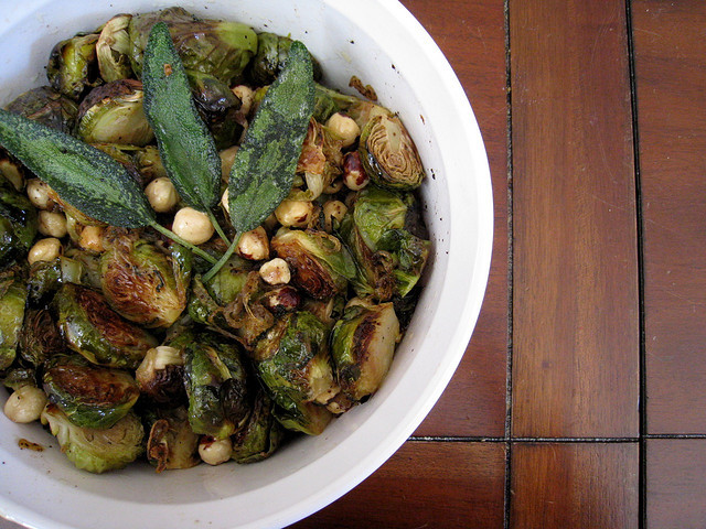 If there's going to be something green at Thanksgiving, it had better be Brussels sprouts.