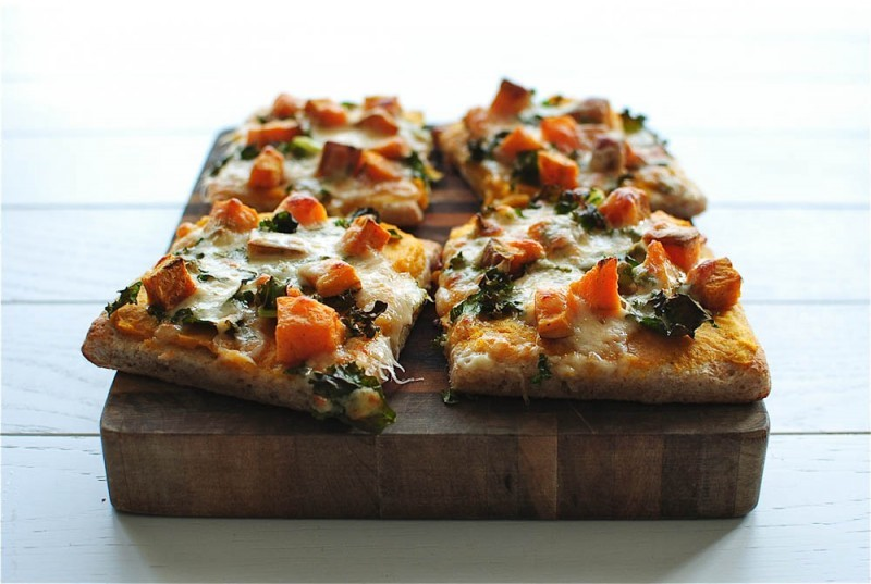 """<strong>Get the <a href=""""http://bevcooks.com/2013/09/roasted-butternut-squash-pizza-tablespoon-tuesdays/"""" target=""""_blank"""">Roa"""
