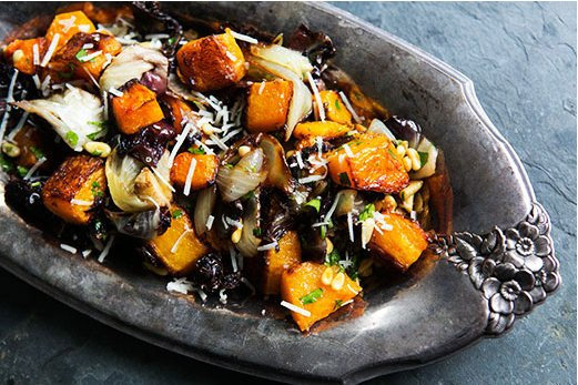 """<strong>Get the <a href=""""http://www.simplyrecipes.com/recipes/roasted_butternut_squash_radicchio_and_onion/"""" target=""""_blank"""">"""