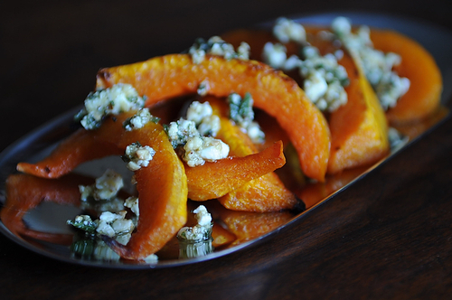 """<strong>Get the <a href=""""http://food52.com/recipes/7374-caramelized-butternut-squash-wedges-with-a-sage-hazelnut-pesto"""" targe"""