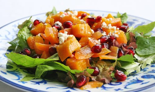 """<strong>Get the <a href=""""http://www.simplyrecipes.com/recipes/golden_beet_and_pomegranate_salad/"""" target=""""_blank"""">Golden Beet"""